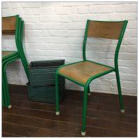 Original Green Mullca French School Chairs