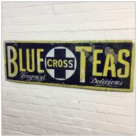 Original Blue Cross Teas Enamel Sign