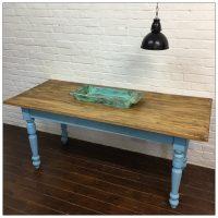 Blue Wooden French Farmhouse Kitchen Table