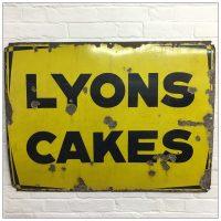 Original Lyons Cakes Enamel Sign