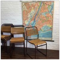 Original Slatted Stacking Cox Chairs