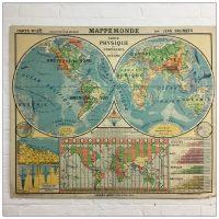 French School Hatier Map Mappe Monde