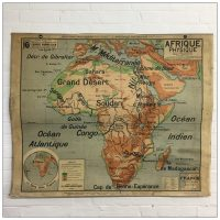 Vintage French School Map of Africa