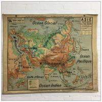 Vintage French School Map of Asia