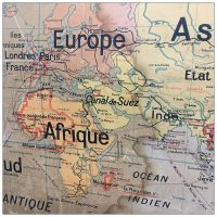 Vintage French School Map Worldwide French Colonies