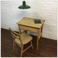 Vintage School Desk And Chair Set
