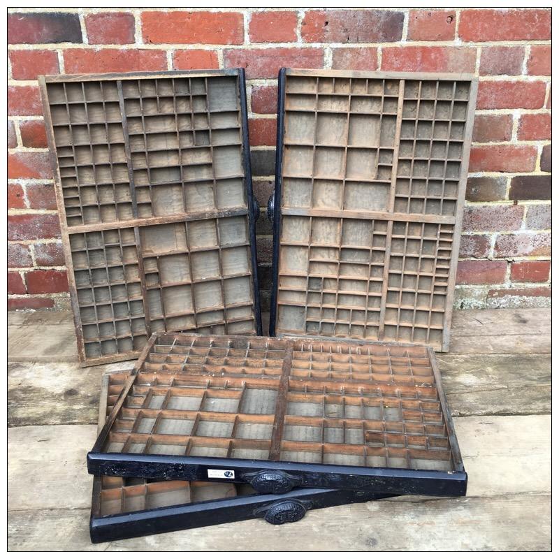 Vintage Letterpress Tray