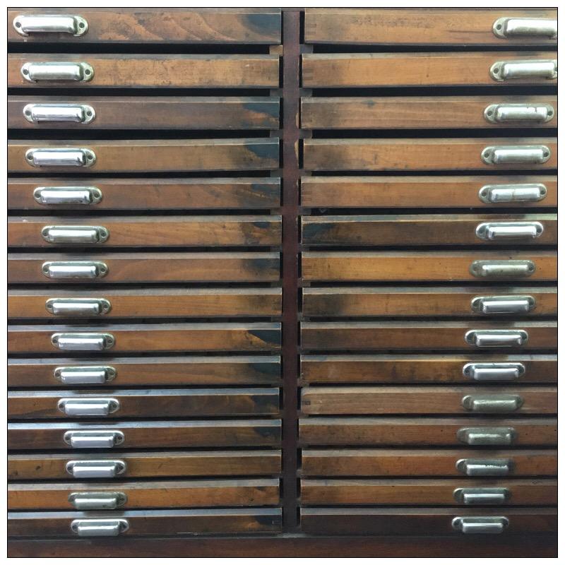 Original Letterpress Drawers Cabinet