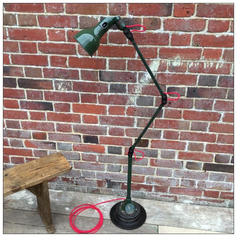 Mek Elek Anglepoise Factory Floor Lamp Mayfly Vintage