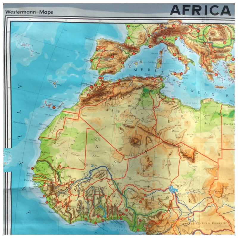 Westermann Map Of Africa Mayfly Vintage